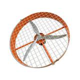 Ventilador Fabricado Para Granjas De Frango Grande 100cm