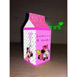 Caixinha / Caixa Milk Personaliza Minnie Rosa - Tds Os Temas