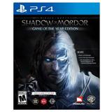 Juego Ps4 Warner Bros Middle-earth Shadow Of Mordor