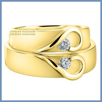 Argollas De Matrimonio Mod. Isabelle Oro Amarillo 10k Solido