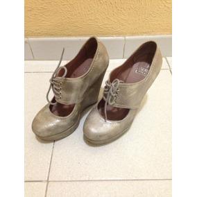 Zapatos Plataforma Plateados By Andrea Gómez Originales