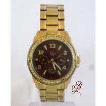 Relógio Dumont Feminino Dourado - Sz85194r