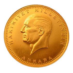Moneda De Oro 50 Kurush Ata Ceyrek Turco Año 2017 Ceyrek Alt