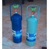 Bombona Recargable Refrigeración Azul Oscuro Y Verde Claro