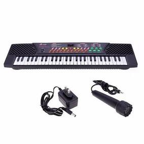 Teclado Electrónico Musical De 54 Teclas, Micrófono Incluido