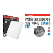 Painel Plafon Led Sobrepor 30w 40x40 Quadrado Branco Frio