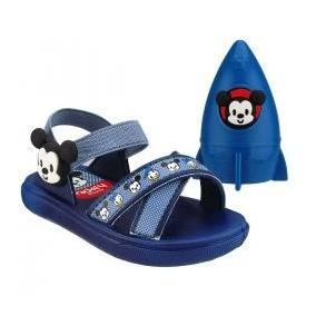 Sandália Papete Mickey Minnie Hora Do Banho 21374 Brinde
