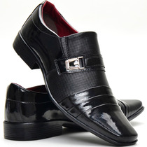 Sapato Social Alto Brilho Masculino Lançamento Dhl Calçados