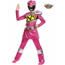 Disfraz Power Ranger Dino Rosa 4/6 Años Original Entrega Inm