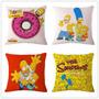 Kit 4 Capas De Almofada Os Simpsons 100,00