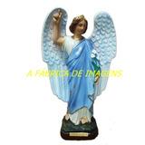Anjo São Gabriel Arcanjo Estatua Santo Gesso Imagem 30cm Br