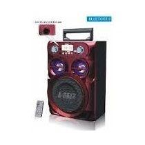 Caixa De Som Bluetooth Torre 20w Com Fm, Mp3 Usb Sd Controle
