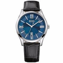 Reloj Hugo Boss Ambasador Cara Azul Piel 1513386 Time Square