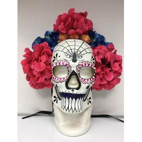 Mascara Catrina Mexicana Calavera Flores Dia Muertos Mexico