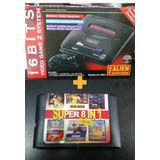 Sega 16 Bits Con 5 Juegos Incorporados + Cartucho De Regalo!