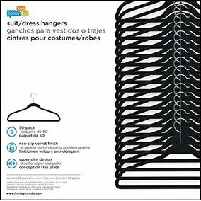 Ganchos Para Ropa En Terciopelo Vestidos Paquete X 50 Und