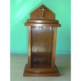 Capela Santo Madeira Maciça - Oratório - Modelo 2 - Igreja