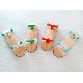 Skate De Dedo Fingerboard De Madeira Roda C/ Rolamento