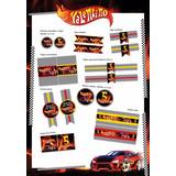 Grafica Kit Para Imprimir Candy Bar Hot Wheels Cumpleaños