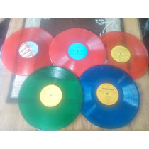 Discos Vinil Acetato De Colores Decoracion Oferta!