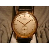 Precioso Reloj Nobel Oro Plaque 18k Impecable 37mm!! Unico!!