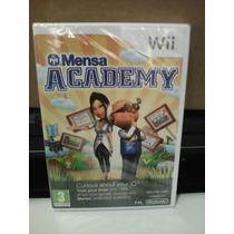 Mensa Academy - Wii - Europeu Pal - Lacrado - Importado