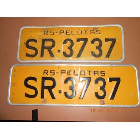Par De Placas Amarela Original Pelotas Rs.