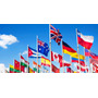 Banderas Del Mundo - Tela De Poliester Y Nylon