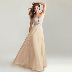 Vestidos largos color hueso