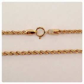Kgshop Cordão Baiano Masculino Corda 60cm Ouro18k 3,8g