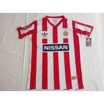 Jersey Chivas 87-88 Reedición Nissan Adidas Version Nacional