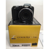 Camara Nikon L340, X28, 20,2 Mp, Como Nueva, Cargador, Forro