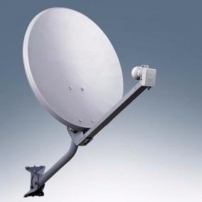 Kit Antena 60 Cm Com Lnb Duplo Faixa Larga
