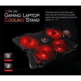 Cooler Gamer Para Laptop Teros Fn30 Con 4 Ventiladores