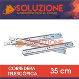 Corredera Telescopica 35 Cm Placard Mueble Armario Oficina