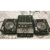 Par De Cdj Denon Dn-s1200 E Mixer Behringer Vmx-300