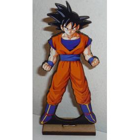 6 Centro De Mesa En Fibrofacil Goku Dragon Ball Z
