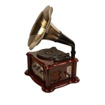 Toca Discos Retrô Vitrola Gramophone Usb Sd Cd Am/fm Top!