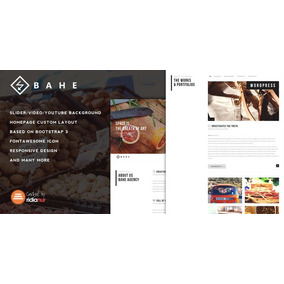 Bahe V1.1 - Responsive One Page Portfolio Theme