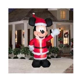 Mickey En El Juego De Santa Airblown Decoración De Navidad