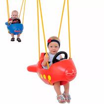 Balanço Avião Infantil Criança Xalingo Vermelho Ou Azul