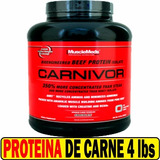 Proteina Isolate Carne Carnivor 4 Lb Musclemeds Beef Protein