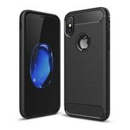 Funda iPhone XS X 10 Simil Rugged Carbon Alto Impact Calidad