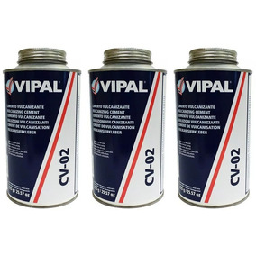 Cola Cimento Vulcanizante Vipal Cv-02 (03 Unid) Frete Grátis