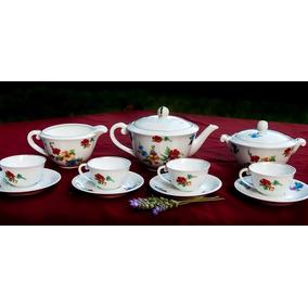 Juego De Café Impecable Porcelana Limoges