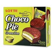 Choco Pie De Matcha Caja Con 12 Pz Pastelito Coreano