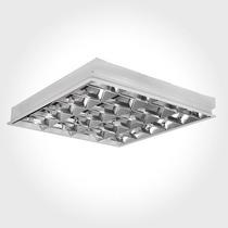 Luminária Comercial 4x16/18/20w De Embutir Para Fluorescente