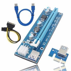 Riser Card De Capacitores Sólidos Pci Express X1 A X16