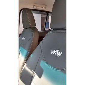 Capa Banco Automotivo Couro Courvin Para O Novo Uno Way 2018