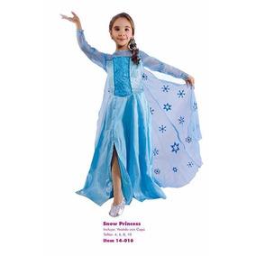 Disfraz Elsa Frozen Niñas Talla 6 Y 8